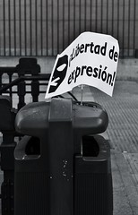 where are freedom of expression for Spanish people?