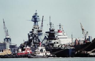 BB-35, Todd Shipyard, Galveston, around August, 1989 a