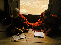 Young Monks at a Inle Lake Monastery