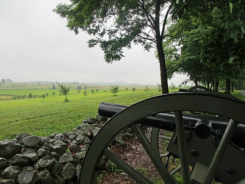 Seminary Ridge ... A. P. Hills Corps with Little and Big Round Top in Background 2, Gettysburg, Pennsylvania USA