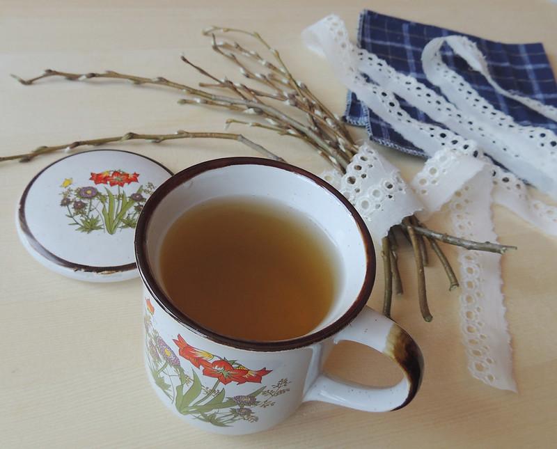 весенний чай и веточки 2