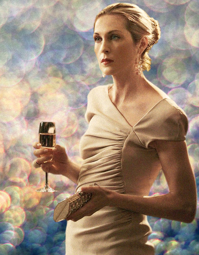Lily van der Woodsen from Gossip Girl // high society, champagne dress
