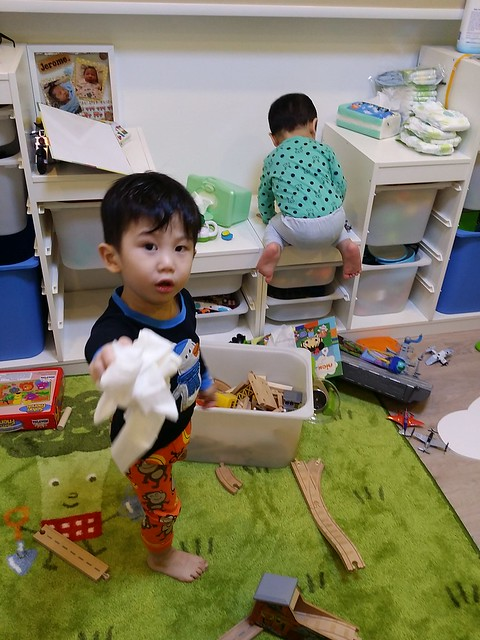 The J brothers ransacking the entire playroom