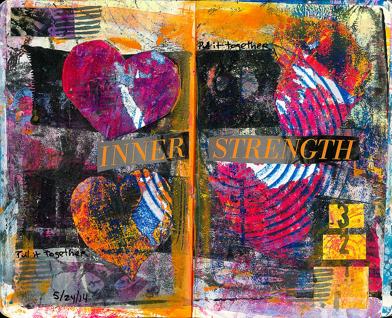 art journal - inner strength
