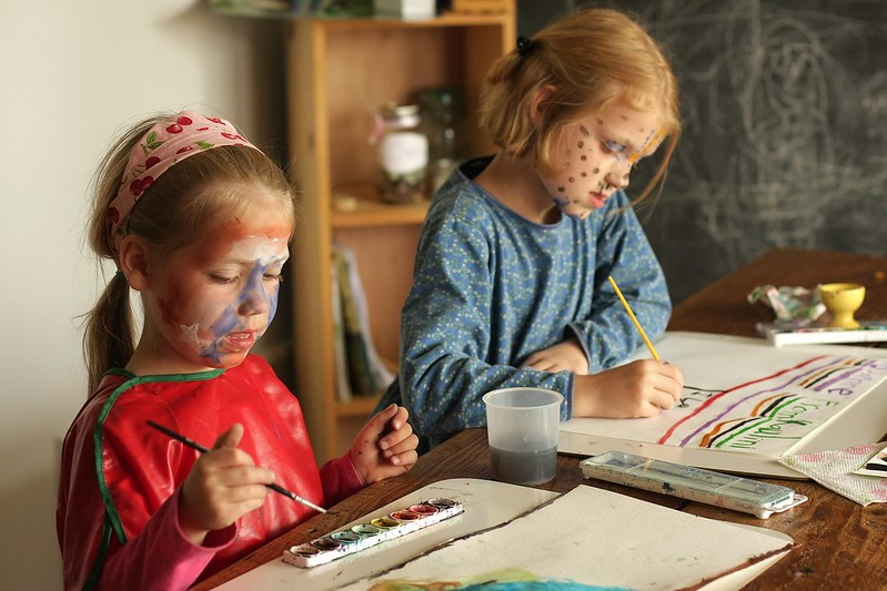 from painting faces to painting paper