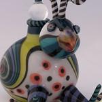 Nancy Nagel; Bird; Lampworked glass; 4x3x3; 2015 -