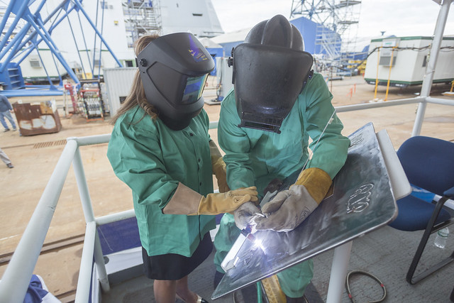 Future USS Rafael Peralta (DDG 115) Keel Authenticated