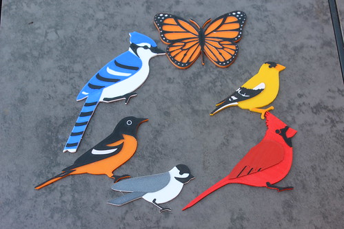 3D Printing - Blue Jay, Monarch, Goldfinch, Cardinal, Chickadee, Baltmore Oriole