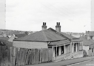 Houses identified as substandard in Melville Street area, 1957