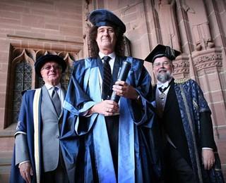Brian May, graduation @ RAH - 2008
