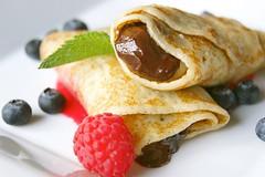 meal, breakfast, berry, palatschinke, fruit, food, dish, cuisine, pancake,