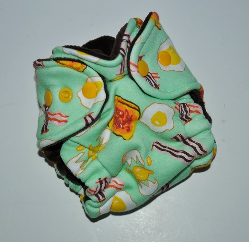 Bumstoppers Newborn Bacon and Eggs Hybrid Fitted **New Style**