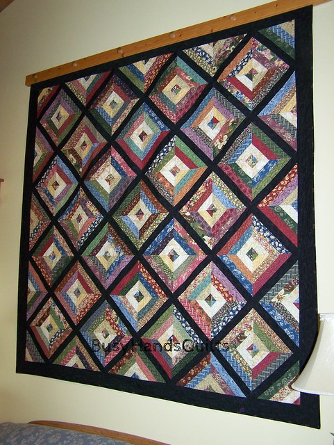 Custom Oversized Lap Strip Quilt in Thimbleberries Sweet Home