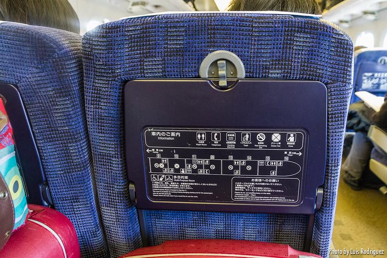 Esquema de los coches de la serie 700 en la bandeja del asiento
