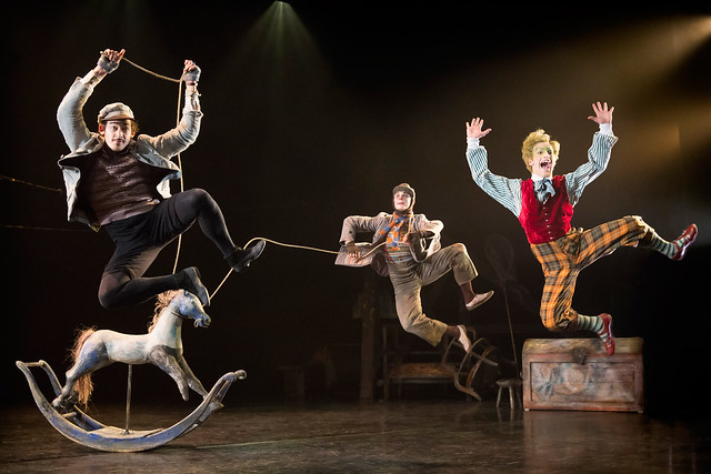 Will Kemp as Ratty, Clemmie Sveaas as Mole and Cris Penfold as Toad in Wind in the Willows © ROH/Johan Persson, 2012