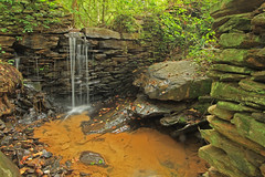 Weeping Wall, Marietta Paper Mill Company, Wood Pulp Mill, Sope (Soap) Creek Gorge, Chattahoochee National Recreation Area, Cobb County, Georgia 1