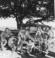 Morocco 1930s back from the hunt