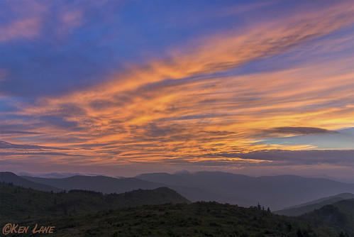 blue sunset orange mountain yellow clouds blueridgeparkway tennet