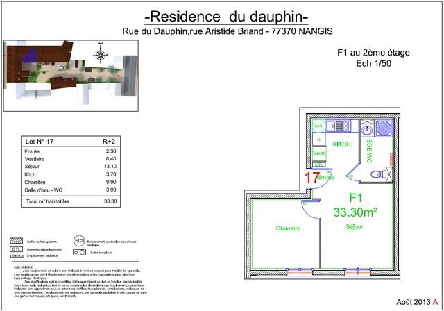 Résidence du Dauphin - Plan de vente - Lot n°17