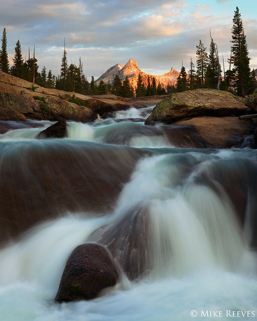 Cathedral Peak and Rapids by Mike Reeves