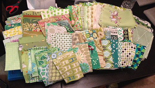 "Fabric for my ""green"" quilt"