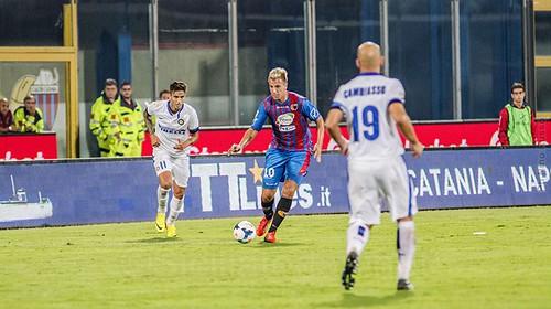 L'Inter rifila tre gol ad un Catania ancora in fase di rodaggio$