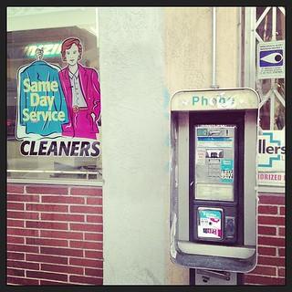 Grand Avenue phone booth (III)
