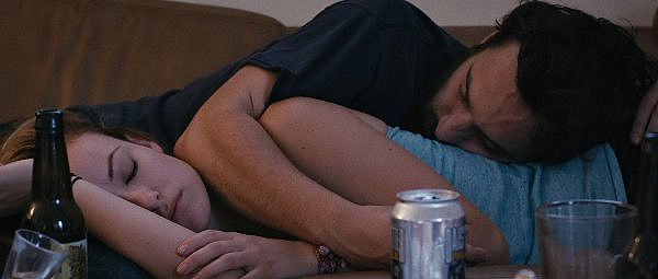 Olivia Wilde and Jake Johnson a booze-crossed almost-lovers in DRINKING BUDDIES.