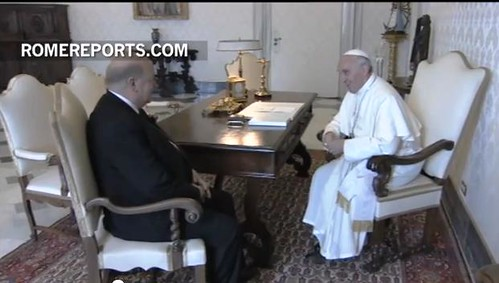 OAS Secretary General was received in private audience by Pope Francis