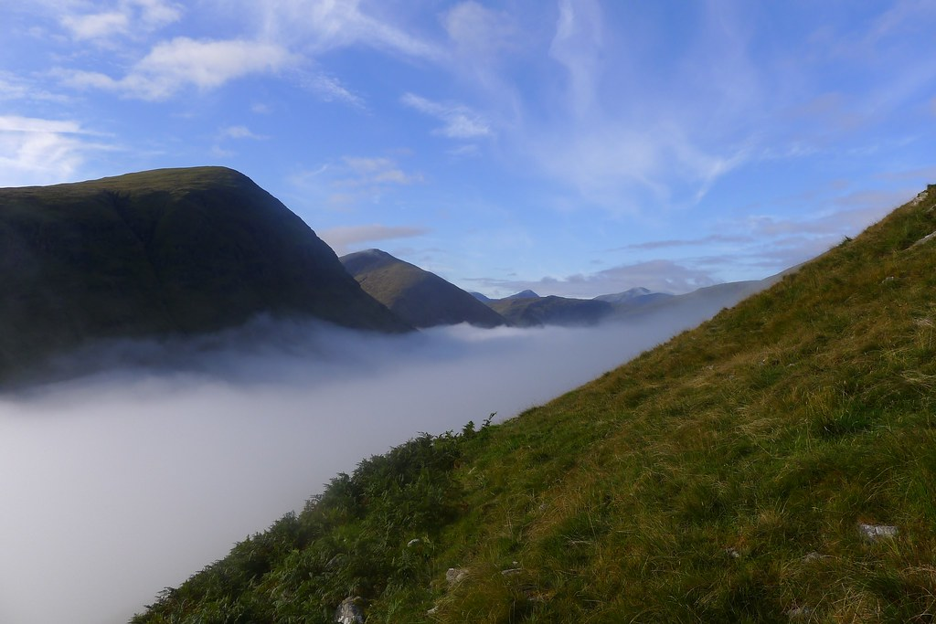 Inversion filling the Auch Glen with views to the Ben Lui group