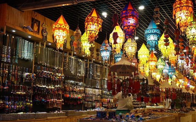 The night market in Yangshuo.