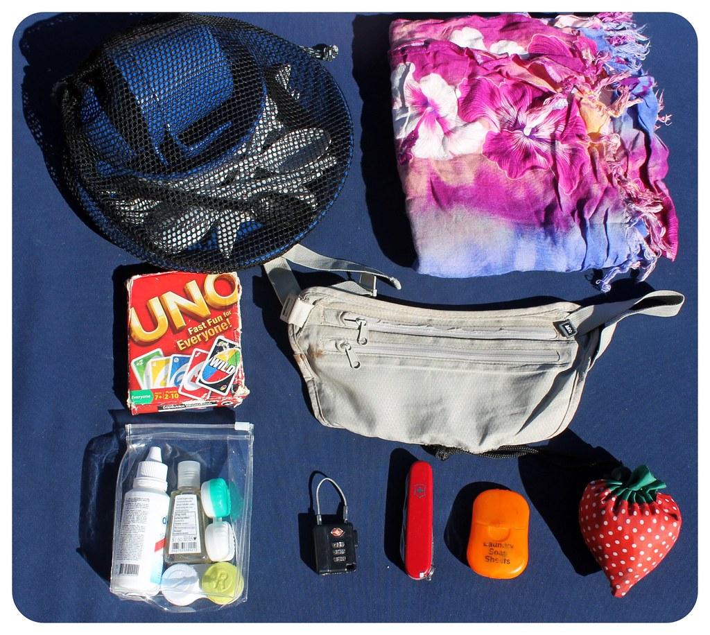 random stuff in our backpacks