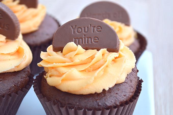 chocolate orange cupcakes buttercream frosting