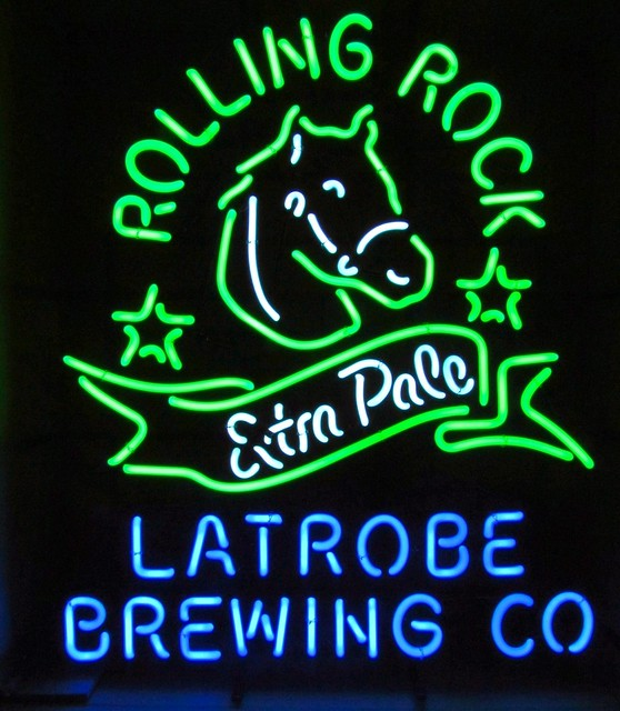 Rolling Rock Neon Sign For Sale