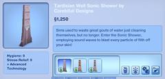 Tardisian Well Sonic Shower by Corebital Designs