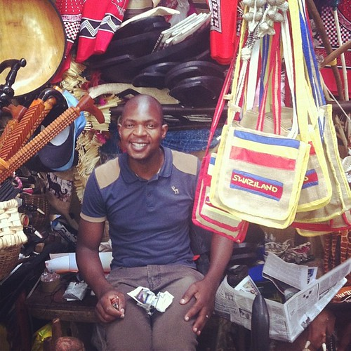 We always visit Cezar at the Manzini Craft Market.  This Mozambican always has a gentle smile and a warm greeting waiting for us.  He is the one who had sold us many souvenirs over the years including toy machetes, batik cloths, wooden cats, a drum, woode