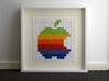 Crochet Apple logo 5 - framed
