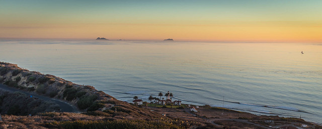 Panoramic sunset at Point Loma, San Diego