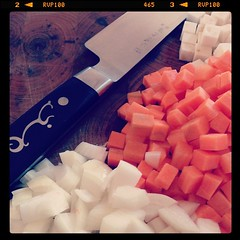Veg prep for the meatball ragout, dinner tomorrow