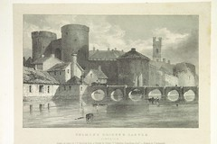 """British Library digitised image from page 179 of """"Picturesque views of the Antiquities of Ireland. Drawn on stone by J. D. Harding, from the sketches of R. O'C. Newenham [With text by the latter.]"""""""