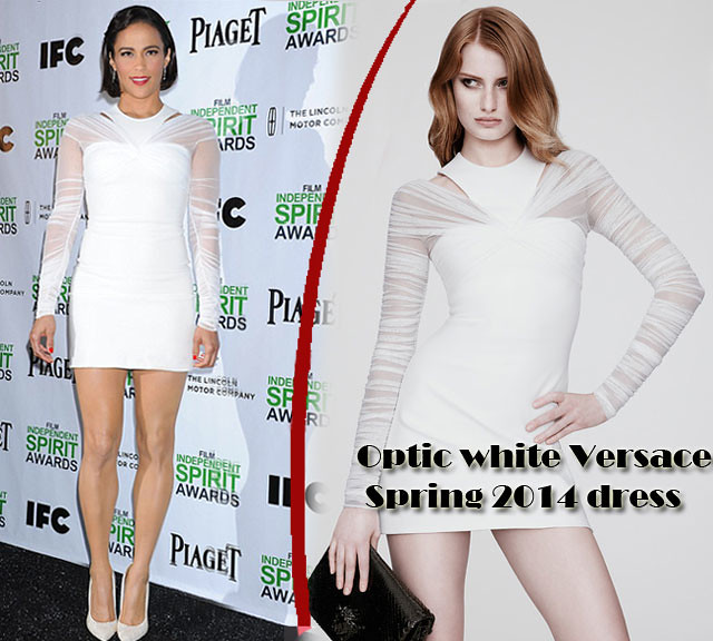 optic-white-Versace-Spring-2014-dress, Versace Spring 2014 dress, how to wear winter whites, winter whites, how to wear white clothesVersace Spring 2014 dress, how to wear winter whites, winter whites, how to wear white clothes