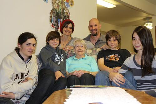 Miller family eating together