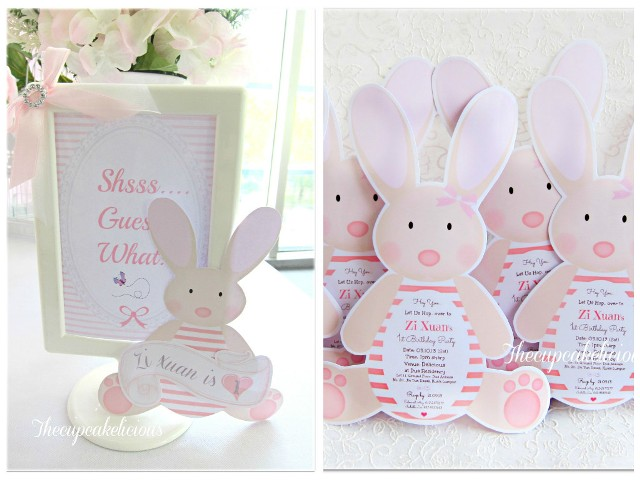 bunny themed invitesA