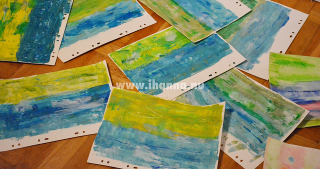 Postcard Backgrounds painted