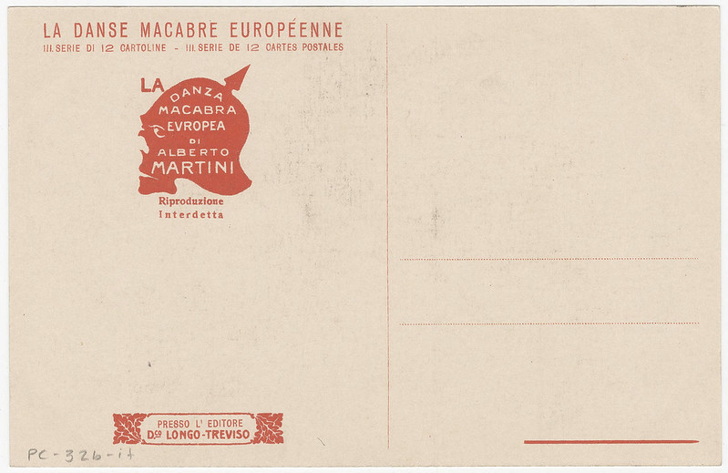 Alberto Martini - Danza Macabre Europea (backside of postcard)