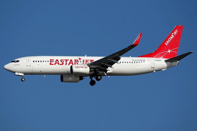 Eastar Jet | Boeing 737-800 | HL8269 | Seoul Incheon