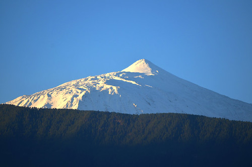 Snow clad Mount Teide, Tenerife