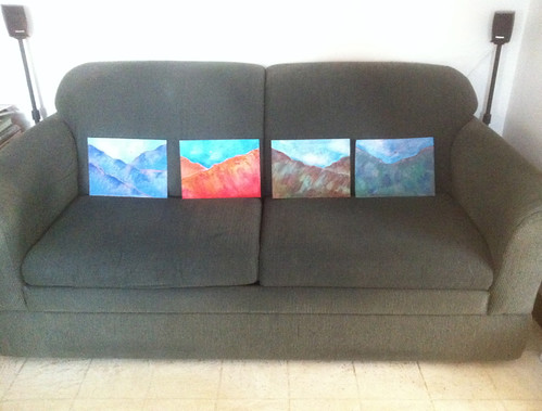 Four Paintings on the Couch (Dec. 27, 2013) by randubnick