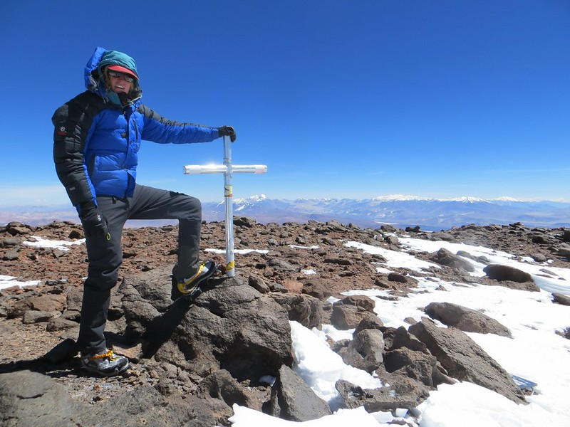 On the main summit of Pissis (6800m)