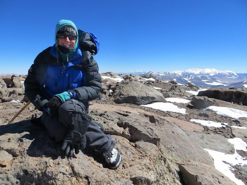 The summit of Veladero (6420m)